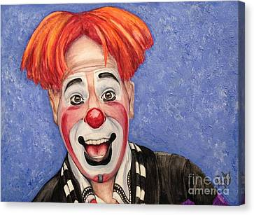 Daniel Canvas Print - Watercolor Clown #7 Ryan Combs by Patty Vicknair