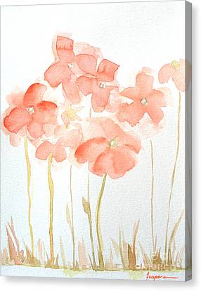 Watercolor Flower Field Canvas Print by Patricia Awapara