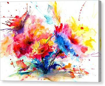 Watercolor Garden Canvas Print by Isabel Salvador