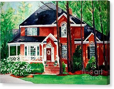 Watercolor Home Portrait 1 Canvas Print
