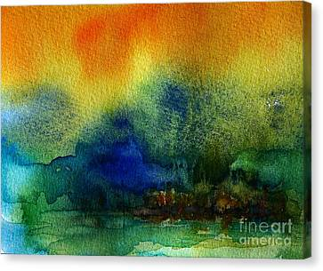 Watercolor Island Canvas Print