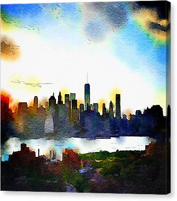 Natasha Canvas Print - Watercolor Manhattan by Natasha Marco