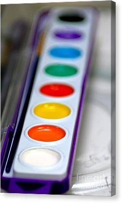 Watercolor Paint Set Canvas Print by Amy Cicconi