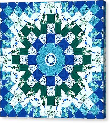 Homemade Quilts Canvas Print - Watercolor Quilt by Barbara Griffin