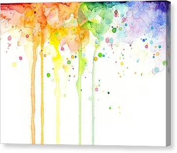 Watercolor Rainbow Canvas Print by Olga Shvartsur
