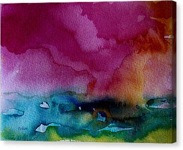 Watercolor Sea Expression 2  4-24-12 Julianne Felton Canvas Print