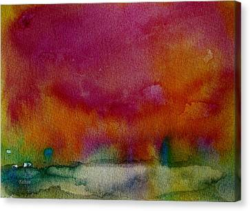 Watercolor Sea Expression I 4-24-12 Julianne Felton Canvas Print