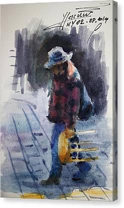 Watercolor Sketch Canvas Print by Ylli Haruni