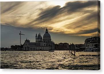 Canvas Print featuring the photograph Watercolor Sky Over Venice Italy by Georgia Mizuleva