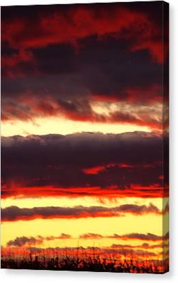 Watercolor Sunset Canvas Print
