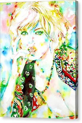 Watercolor Woman.3 Canvas Print