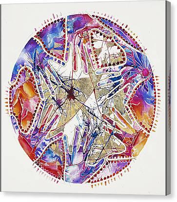 Watercolors Canvas Print by Jacqueline Sacs