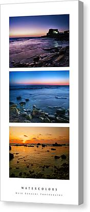 Canvas Print featuring the photograph Watercolors by Meir Ezrachi