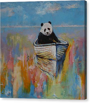 Watercolors Canvas Print by Michael Creese