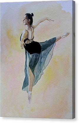 Watercolour Dancer Canvas Print