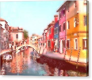 Canvas Print featuring the photograph Watercolours by Micki Findlay