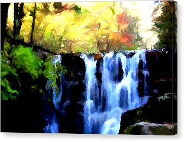 Waterfall 1 Canvas Print by Lanjee Chee