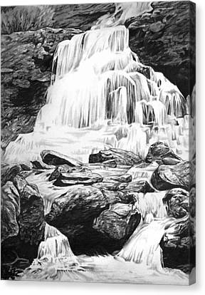 Mountain Canvas Print - Waterfall by Aaron Spong