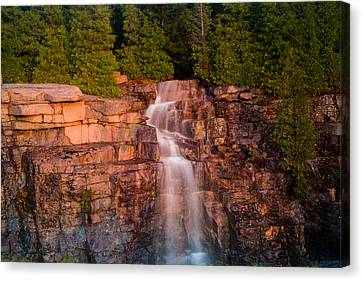 Waterfall Canvas Print by Allan Johnson
