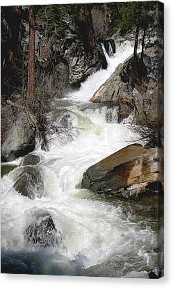 Waterfall Along The Rubicon Trail - Lake Tahoe Canvas Print by Patricia Sanders