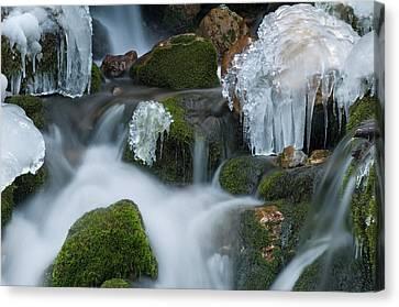 Waterfall An Ice Canvas Print