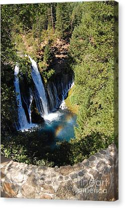 Canvas Print featuring the photograph Waterfall And Rainbow 2 by Debra Thompson