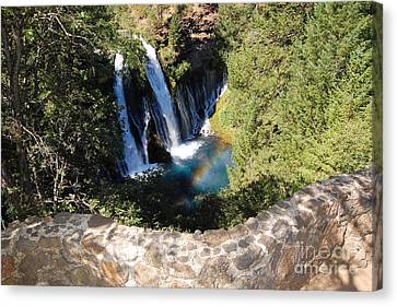 Canvas Print featuring the photograph Waterfall And Rainbow 3 by Debra Thompson