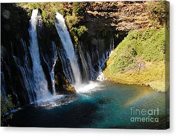 Canvas Print featuring the photograph Waterfall And Rainbow 4 by Debra Thompson