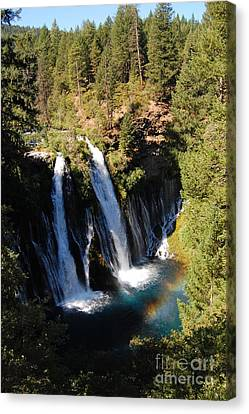 Canvas Print featuring the photograph Waterfall And Rainbow by Debra Thompson