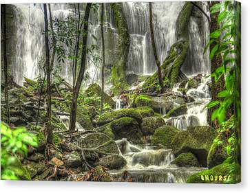 Waterfall Canvas Print by Andrew Nourse