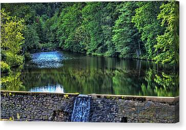 Waterfall At Minas Basin Pulp And Power Co   Canvas Print by Ken Morris