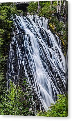 Waterfall At Mt. Rainier Canvas Print by Chris McKenna