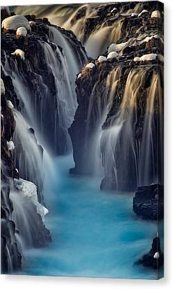 Waterfall Blues Canvas Print by Mike Berenson