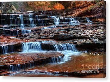 Waterfall Cascade North Creek Canvas Print by Bob Christopher