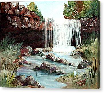 Canvas Print featuring the painting Waterfall by Dorothy Maier