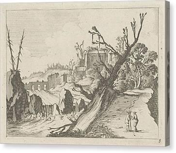 Waterfall, Gillis Van Scheyndel Canvas Print by Gillis Van Scheyndel (i)