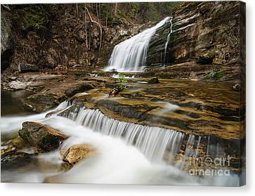 Waterfall - Heading Northwest Canvas Print by JG Coleman