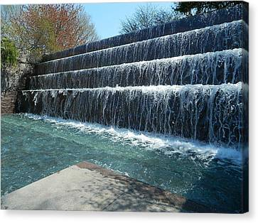 Canvas Print featuring the photograph Waterfall Heaven by Emmy Marie Vickers