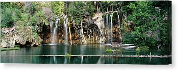 White River Scene Canvas Print - Waterfall In A Forest, Hanging Lake by Panoramic Images