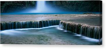 Waterfall In A Forest, Mooney Falls Canvas Print by Panoramic Images
