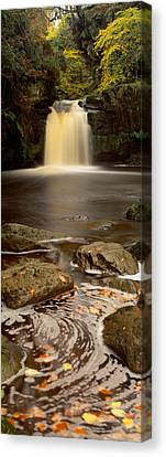 Waterfall In A Forest, Thomason Foss Canvas Print by Panoramic Images