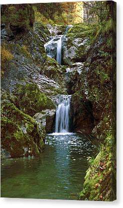 Waterfall In Austria Lassingfall Canvas Print by Thomas Aichinger