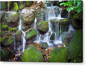 Waterfall In Marlay Park Canvas Print by Semmick Photo