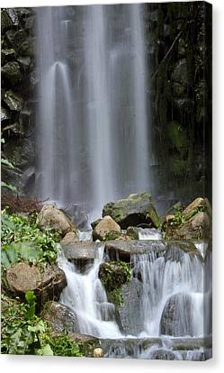 Canvas Print featuring the photograph Waterfall In Singapore by Shoal Hollingsworth