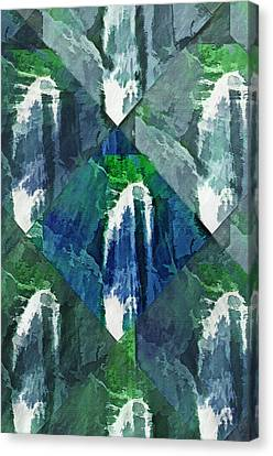 Waterfall Kaleidoscopic Abstract Canvas Print by Steve Ohlsen