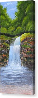 Waterfall Canvas Print by Nirdesha Munasinghe