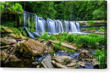 5dmk3 Canvas Print - Waterfall Of Keila by Mario Mesi