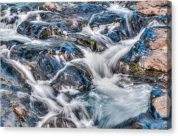 Canvas Print featuring the photograph Waterfall On Mt. Rainier by Chris McKenna