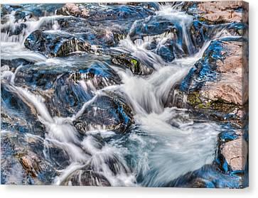 Waterfall On Mt. Rainier Canvas Print by Chris McKenna