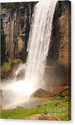 Canvas Print featuring the photograph Waterfall Rainbow by Mary Carol Story